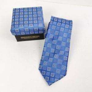 Donald J Trump Tie Blue Geometric Box Signature